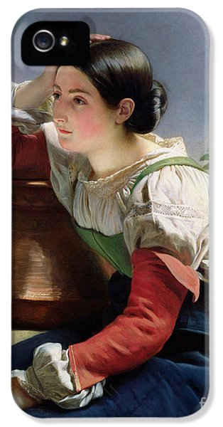 Young Italian At The Well IPhone 5 Case by Franz Xaver Winterhalter