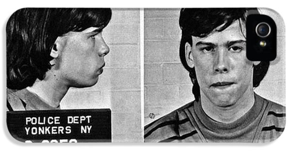 Steven Tyler iPhone 5 Case - Young Steven Tyler Mug Shot 1963 Pencil Photograph Black And White by Tony Rubino