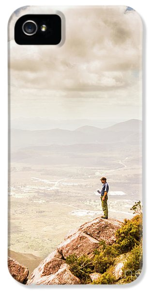 Young Traveler Looking At Mountain Landscape IPhone 5 Case