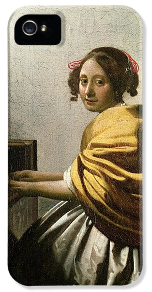 Young Woman At A Virginal IPhone 5 Case by Jan Vermeer
