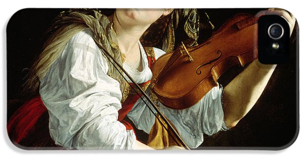 Violin iPhone 5 Case - Young Woman With A Violin by Orazio Gentileschi