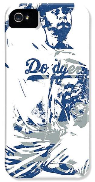 Los Angeles Dodgers iPhone 5 Case - Yu Darvish Los Angeles Dodgers Pixel Art 5 by Joe Hamilton