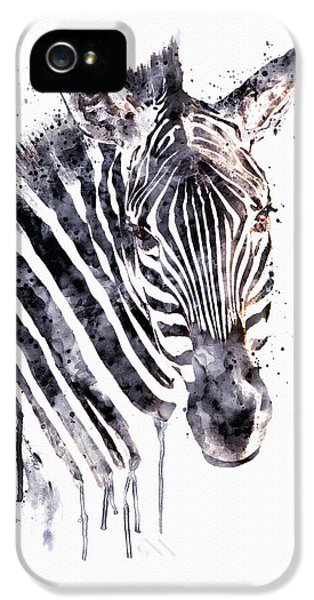 Zebra Head IPhone 5 Case by Marian Voicu