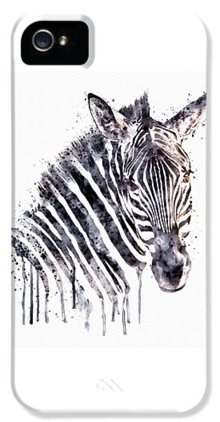Zebra Head IPhone 5 / 5s Case by Marian Voicu