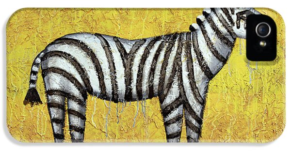 Zebra iPhone 5 Case - Zebra by Kelly Jade King