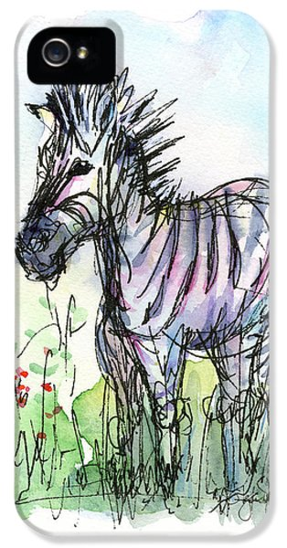 Zebra Painting Watercolor Sketch IPhone 5 Case