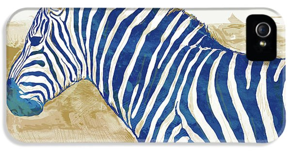 Zebra iPhone 5 Case - Zebra - Stylised Pop Art Poster by Kim Wang