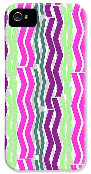 Zig Zig Stripes IPhone 5 Case by Louisa Knight