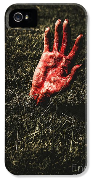 Zombie Rising From A Shallow Grave IPhone 5 Case