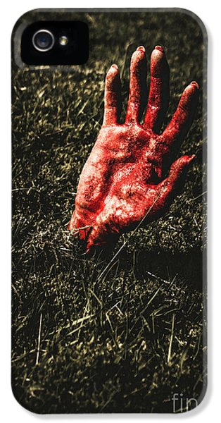 Zombie Rising From A Shallow Grave IPhone 5 Case by Jorgo Photography - Wall Art Gallery