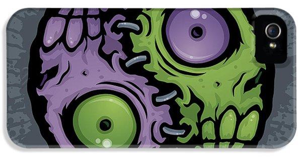 Zombie Yin-yang IPhone 5 Case by John Schwegel