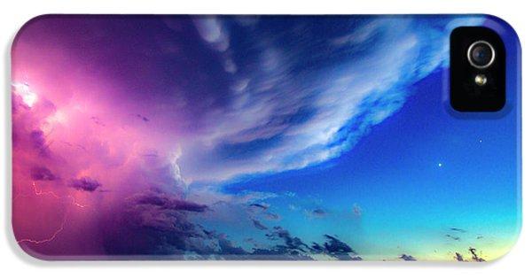 Nebraskasc iPhone 5 Case - Epic Nebraska Lightning 007 by NebraskaSC