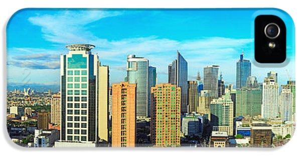 Office Buildings iPhone 5 Case - Aerial View On Makati City - Modern by Joyfull