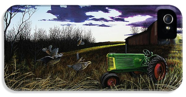 Oliver Tractor iPhone 5 Case - An Oliver Time Of Year by Anthony J Padgett