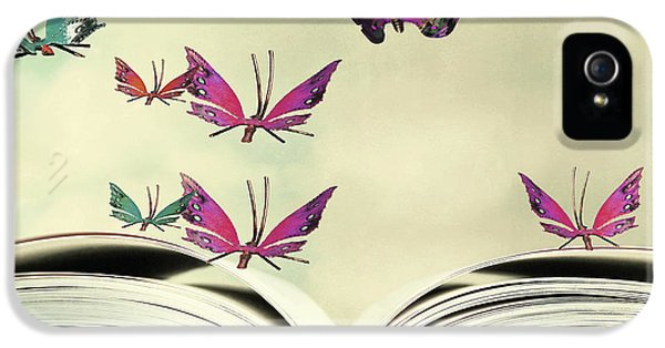Fairy iPhone 5 Case - Artistic Image Of An Open Book And by Valentina Photos