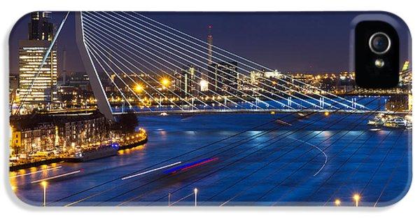Office Buildings iPhone 5 Case - Beautiful Twilight View On The Bridges by Dennis Van De Water