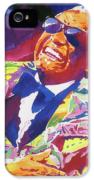 Rhythm And Blues iPhone 5 Case - Brother Ray Charles by David Lloyd Glover