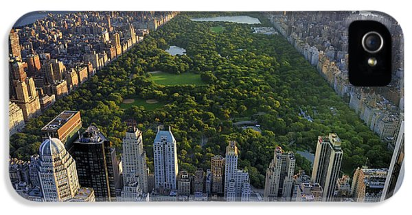 Office Buildings iPhone 5 Case - Central Park Aerial View, Manhattan by T Photography