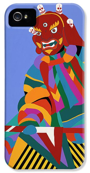 iPhone 5 Case - Cham Dancer Wrathful Deity by Synthia SAINT JAMES