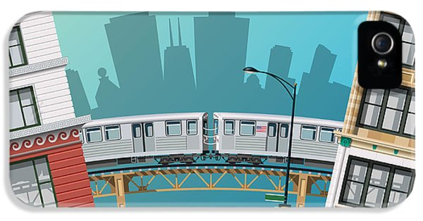 Office Buildings iPhone 5 Case - Chicago Traffic by Nikola Knezevic