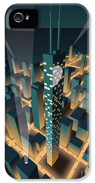 Office Buildings iPhone 5 Case - City At Night by Nikola Knezevic