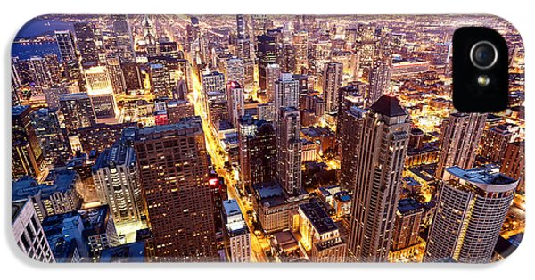 Office Buildings iPhone 5 Case - City Of Chicago. Aerial View  Of by Andrey Bayda