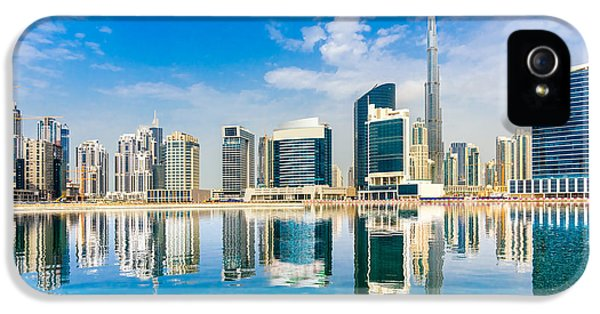 Office Buildings iPhone 5 Case - Dubai Skyline, Uae by Luciano Mortula - Lgm