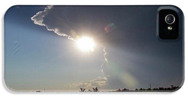 Nebraskasc iPhone 5 Case - Dying Nebraska Thunderstorms At Sunset 002 by NebraskaSC