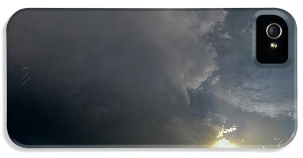 Nebraskasc iPhone 5 Case - Dying Nebraska Thunderstorms At Sunset 010 by NebraskaSC