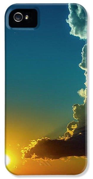 Nebraskasc iPhone 5 Case - Dying Nebraska Thunderstorms At Sunset 068 by NebraskaSC