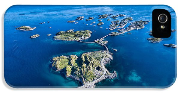 Town iPhone 5 Case - Henningsvaer, Fishing Port On Lofoten by Harvepino