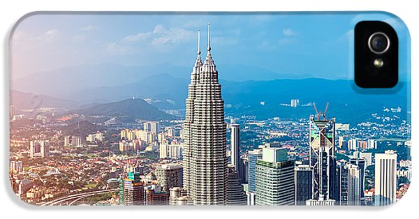 Office Buildings iPhone 5 Case - Kuala Lumpur Skyline, Malaysia by R.nagy