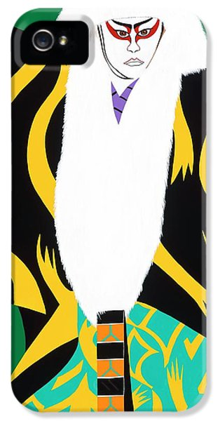 iPhone 5 Case - Kabuki Lion Dancer by Synthia SAINT JAMES