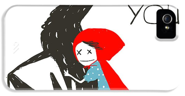 Fairy iPhone 5 Case - Little Red Riding Hood Loves Black by Popmarleo