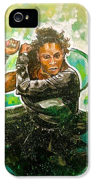 Serena Williams iPhone 5 Case - Mama Said Knock You Out by Joel Tesch