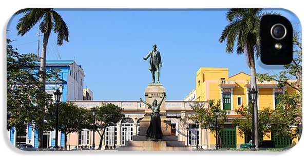 Town iPhone 5 Case - Matanzas, Cuba - Main Square. Palm by Tupungato