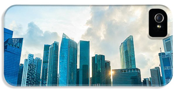 Office Buildings iPhone 5 Case - Modern Architecture Of Singapore by Joyfull