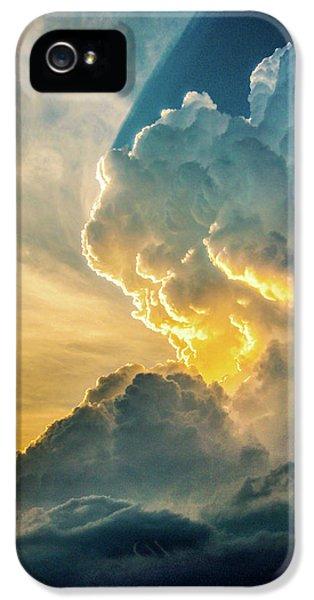 Nebraskasc iPhone 5 Case - Nebraska Sunset Thunderheads 075 by NebraskaSC