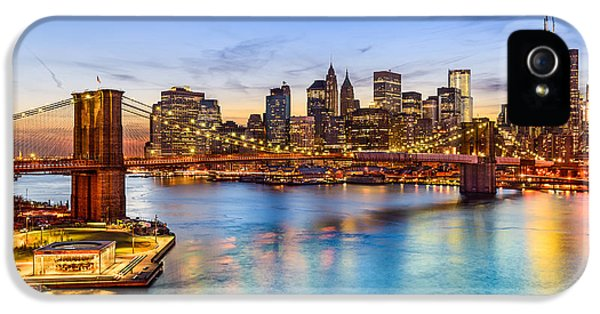 Office Buildings iPhone 5 Case - New York City, Usa Skyline Over East by Sean Pavone