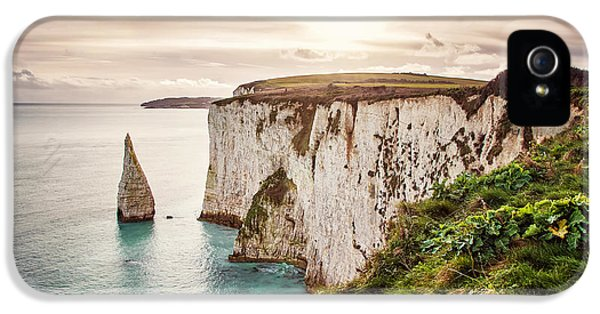 Dorset iPhone 5 Case - Old Harry Rocks, Located At Handfast by Dafinka
