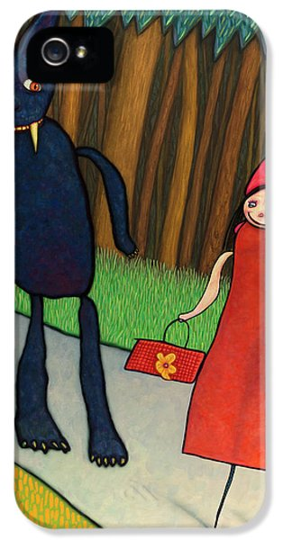 Fairy iPhone 5 Case - Red Ridinghood by James W Johnson