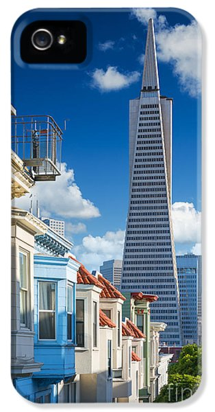 Office Buildings iPhone 5 Case - San Francisco Downtown. Famous Typical by Im photo