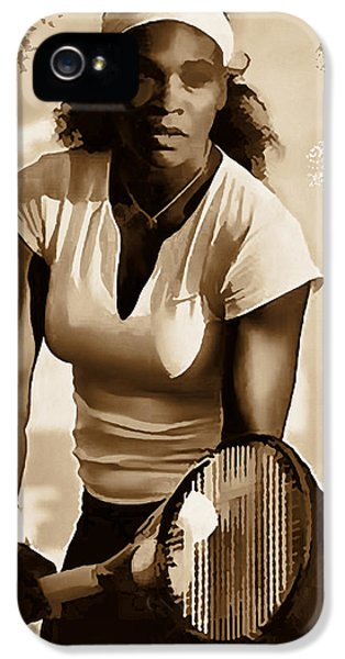 Serena Williams iPhone 5 Case - Serena Williams - Ready To Go 1 by Marlene Watson