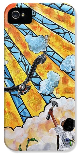 iPhone 5 Case - Shattered Skies by Artist RiA