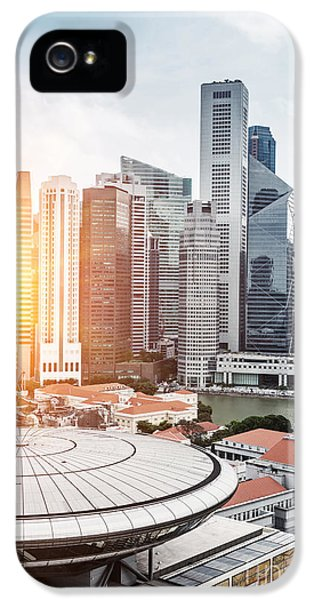 Office Buildings iPhone 5 Case - Skyline Of Singapore Business District by Zhu Difeng