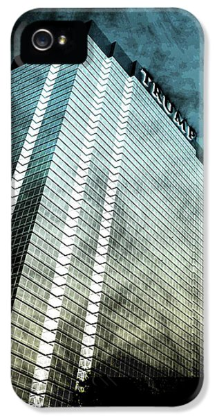 Office Buildings iPhone 5 Case - Surrounded By Darkness by Az Jackson