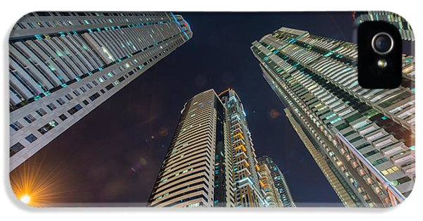 Office Buildings iPhone 5 Case - Tall Residential Buildings In Dubai by Elnur