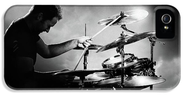 Drum iPhone 5 Case - The Drummer by Johan Swanepoel