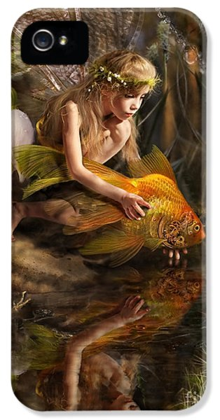 Fairy iPhone 5 Case - The Girl Releases A Gold Fish by Liliya Kulianionak