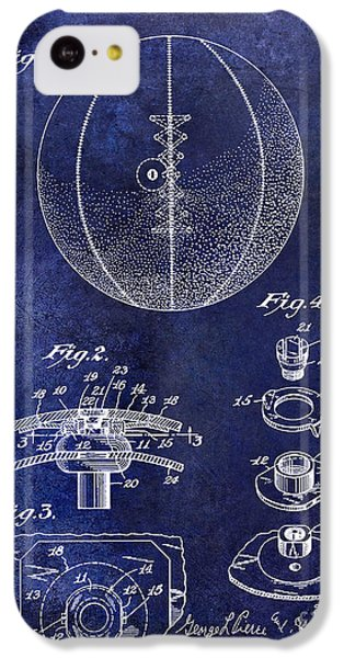 1927 Basketball Patent Drawing Blue IPhone 5c Case
